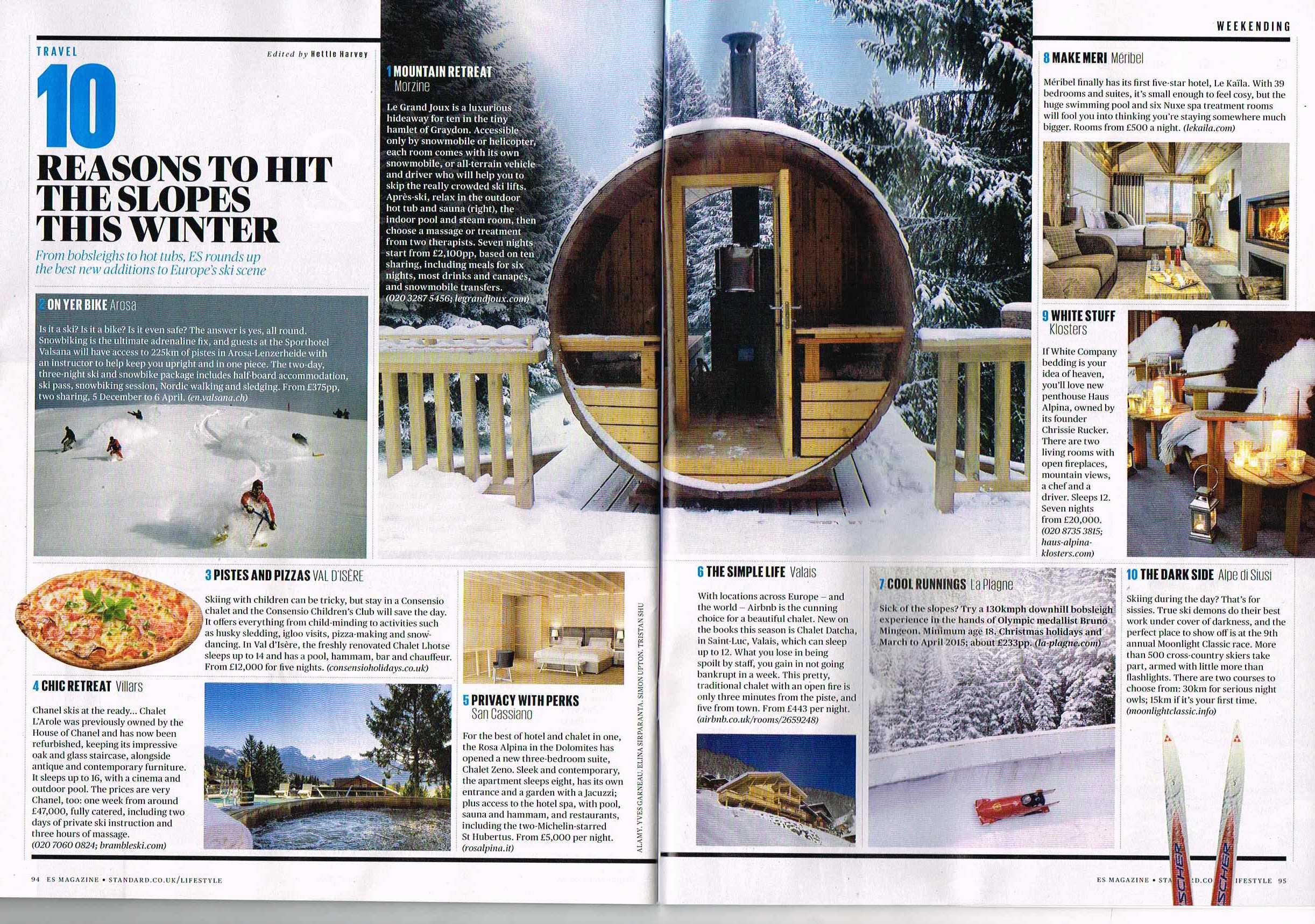 ES Magazine - Haus Alpina - 4th December 2014